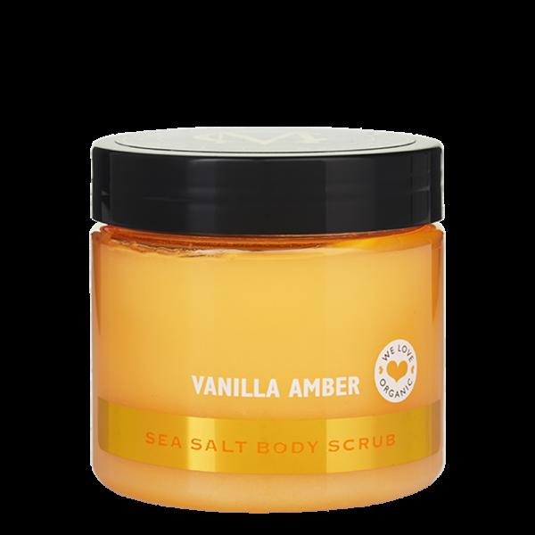 Sea Salt Body Scrub, Vanilla Amber