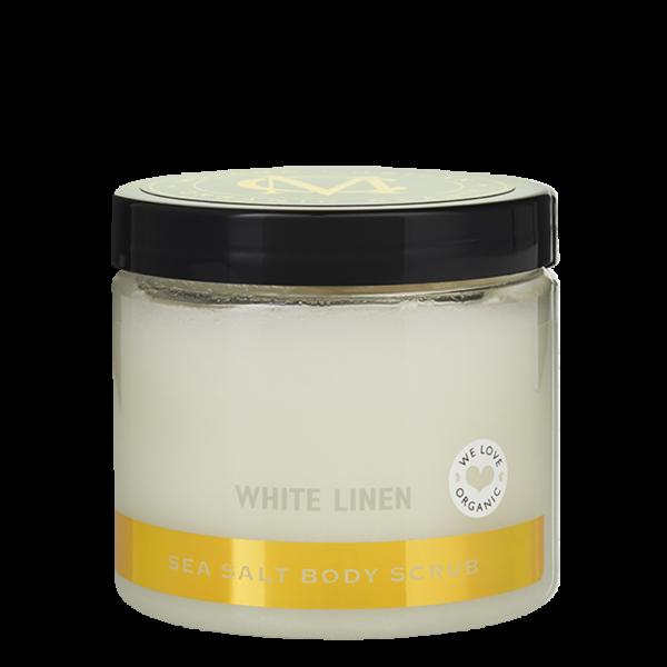 Sea Salt Body Scrub, White Linen